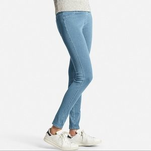 UNIQLO Blue High Waisted Denim Leggings